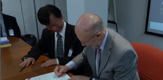 Firma del acuerdo entre el Centro para el Desarrollo Tecnológico Industrial (CDTI) y el Department of Industrial Technology (DOIT) de Taiwán